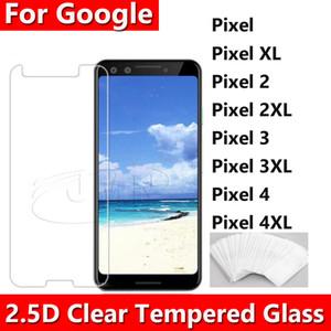 2.5D 0.26MM Proteggi schermo in vetro temperato trasparente per Google Pixel 4 3A XL Pixel3A Pixel2 Pixel 2 XL in sacchetto del opp dhl spedizione gratuita