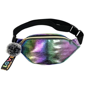 New fanny pack multi-function steam punk style fashion bag Reflective laser Shoulder bag women's belt waist Wallets backpack