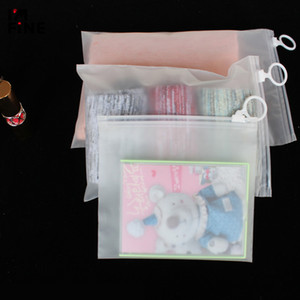 Сумки 100шт Высокое качество пластиковых хранения Косметический пакет мешок Нижнее белье / носки Упаковка Сумки Матовый пылезащитный мешок 3 размеров