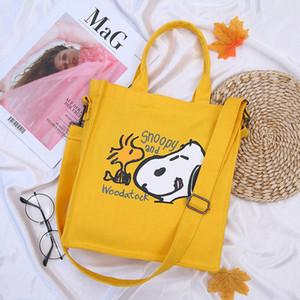 مصنع الجملة 2019 جديد قماش سنوبي Kaws حقيبة يد الإضافية مع نفس الفقرة المتناثرة الرياح رسول حقيبة حقيبة يد