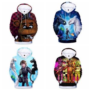 Come Dragon Trainer in 3D con cappuccio Felpa Carton Parent-infantile di alta qualità dei vestiti di moda Pullover Hoodies Felpa