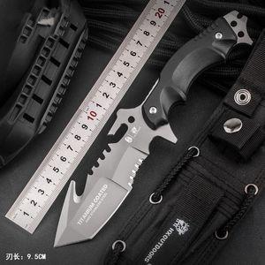 Handao Hoja de acero inoxidable 440C fijo táctico camping caza de supervivencia cuchillos de bolsillo G10 compuesto de fibra Colección Herramientas Handle
