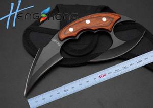 2016 new knife Fury7 claw knife hunting kniife Hunting Knives EDC knife 440blade wood handle nylon sheath