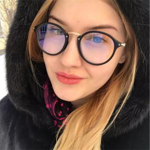 Синий свет очки рамка компьютерные очки очки круглые прозрачные женские женские очки рамка 2018 оптические рамки ясно