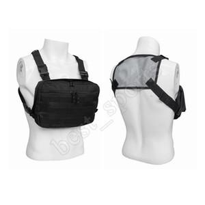 Waterproof Tactical Vest Knapsack 600D Oxford pano Peito Bag Anti desgaste do esporte ao ar livre homens negros Bags ZZA691