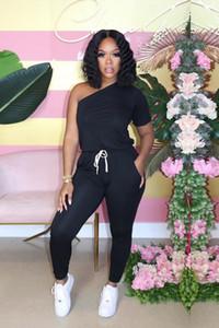 Verão Designer Womens Macacão Moda Sexy Strapless slim macacãozinho cor sólida calças compridas Jumpsuits Vestuário Feminino