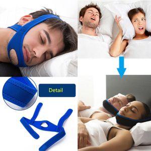 NEW مكافحة الشخير تشين الأشرطة النوم توقف التنفس أثناء حزام الفك دعم وقف الشخير السلامة ومكافحة الشخير حزام
