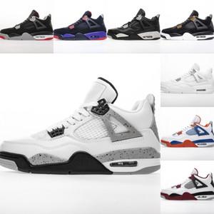 أفضل نوعية 4 رجل المال الخالص كبير size14 مصمم أحذية كرة السلة سخونة الرابع ولدت أسود موضة الأبيض اسمنت رمادي المدربين Size48 مع مربع