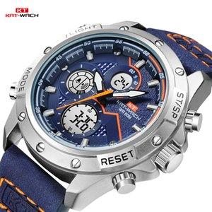 KT TOP orologi di marca Uomini 2020 Lusso 5ATM impermeabile al quarzo analogico degli uomini di orologio data orologi militari di sport WristWatchKT1805
