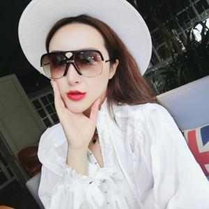 Lunettes de soleil luxe surdimensionné carré Femmes Mode 2019 Big cadre Lunettes de soleil pour hommes New Shades 0478S
