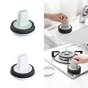 Esponja de la limpieza del cepillo cocina limpia Material de bola Cepillos No manos sucias Scrub Rust limpia con la manija 2 4yd B2