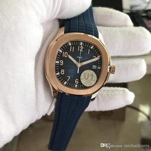 U1 Movimento Fornecedor De Fábrica Gravado Mens Watch Nautilus PP Correia De Borracha Mecânica Automática Transparente Voltar Azul Dial Men Watch