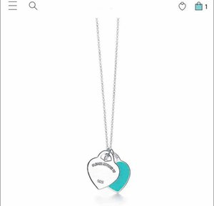 Have stamps 925 STERLING SILVER heart designer necklace for lady Design Womens Party Wedding engagement Luxury Jewelry for Bride