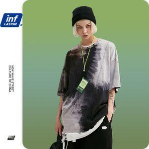 INFLAZIONE Men Tie Dye SUMMMER maglietta Color Block Mens T shirt Moda 2020 Trending oversize Uomini Tee Shirt Homme 1117S20