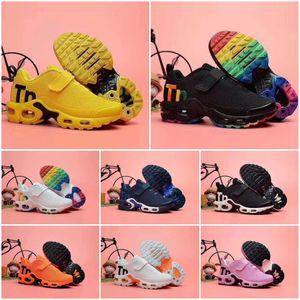 Nike Air TN Plus Tamaño caliente 2020 TN Childrens zapatos atléticos de los muchachos para niños zapatos de baloncesto Niño Huarache Leyenda Azul zapatillas de deporte 28-35