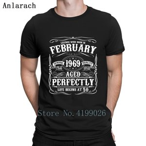 Funny February 50th Birthday Apparel Born 1969 T Shirt Personalized Gents Unique Custom Tshirt Branded Cheap Cotton Summer 2019