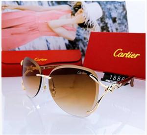 2019 novo Luxur Clássico Piloto de Qualidade Superior Óculos De Sol Designer de Marca de moda Mens Womens Óculos de Sol Óculos De Metal Lentes De Vidro com caixa