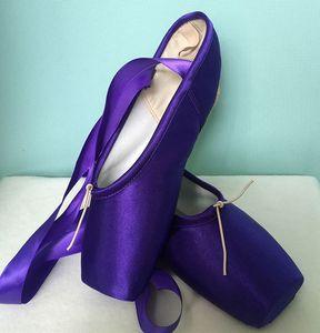 2018 enfants chaud et chaussures de danse de ballet pointe adultes dames chaussures de danse de ballet professionnels pointe noire avec des chaussures de femme rubans