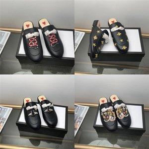 2020 Stock X Mens Womens Designer Slides Flip Flops Sandals Bee Snake Flower Outdoor Beach Fashion Sandal Flat Sandals Pantoufle#832