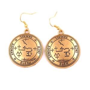 2019 bijoux de style viking boucles d'oreilles accessoires rétro Archagnel SAMAEL religieux amulette talisman offre Dropshipping boucle d'oreille complète