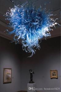 Top design Murano Blue Glass Chandelier Design Coração de 100% Mão vidro fundido casamento Decoração Candelabro