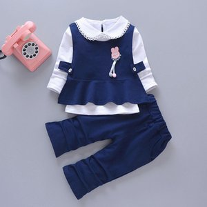 Girls Spring And Autumn Female Suit Baby Fashion Long Sleeve Set 1-2-3-4-Year-Old Childrens Kids Clothes Cartoon Thin
