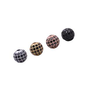 Envío gratis 10 Unid / set Cubic Zircon calado Mamá Beads Beads Fit Charm Pulsera Joyería de Moda Al Por Mayor Accesorios de Joyería de Moda