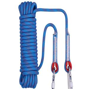 Livraison gratuite 20 mètres Diamètre: 12 mm corde d'évasion, corde d'escalade survie en plein air