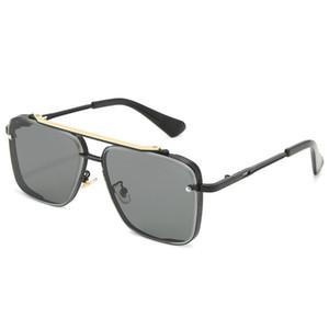 Plaza de las gafas de sol mujeres de los hombres unisex Sombras de la vendimia de conducción gafas de sol polarizadas Gafas de sol de moda masculina metal tablón de gafas de sol Gafas