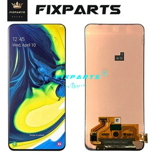 ORIGINAL SUPER AMOLED LCD for SAMSUNG Galaxy A80 A805 Display Touch Screen Digitizer Assembly A80 2019 A905F LCD For SAMSUNG A90