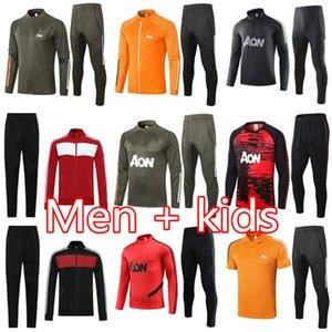 20 21 manchester homens terno treinamento MARCIAL Rashford sportswear jaqueta de futebol azul do pé correr 2020 2021 Pogba United Soccer Treino