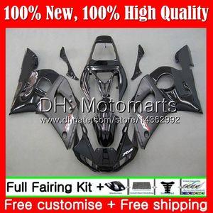 Kit Pour YAMAHA YZF R6 98 YZF600 Stock noir YZFR6 98 99 00 00 02 02 88MT6 YZF 600 YZF-R600 YZF-R6 1998 1999 2000 2001 2002 Carénage de carénage