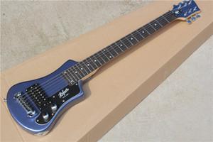 Ücretsiz torba, Siyah Pickguard, Krom donanım ile Fabrika Custom Seyahat gitar Çocuk Elektro Gitar, özelleştirilebilir