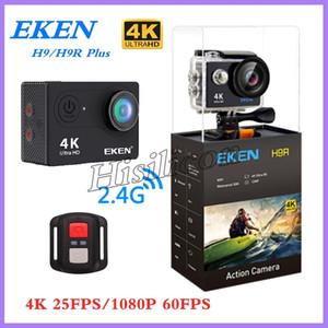 كاميرا 10PCS EKEN H9R H9 زائد الرياضة بعيد جدا HD 4K واي فاي 1080P 60FPS 2.0 LCD 170D الموالية الرياضة للماء Actiom كاميرات