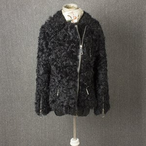 real fur jacket women winter coat winter jacket women High grade zipper wool
