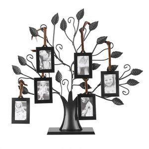 Modo Moder rectángulo Famille Fotos Cadre Affichage Arbre Colgando Fotos Los cuadros del dormitorio del hogar del marco Living Room Decor árbol de la foto