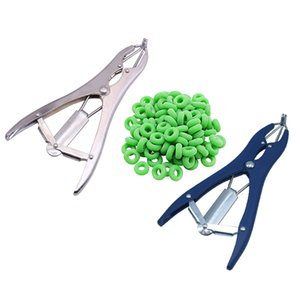 tail removal pigs and sheep castration pliers and 100 particulate rubber ring castration device veterinary equipment pet supplies
