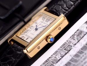 Mecânico automático relógios FORMEN Moda Couro Strap 001 Relógio de pulso Dial rectângulo Casual Leather Strap Folding Buckle alta qualidade