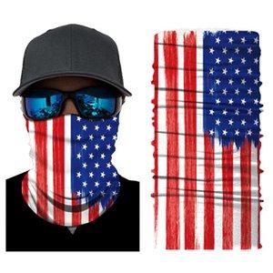 American Flag Visiera Uomo Donna multifunzione UK Bandane CanadaNational Bandiera trasparente Foulard per moto ciclismo collo Maschera Sciarpa