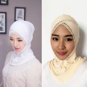 HOT New Beautiful Muslim Lace Strass Trim Hijab modali Musulmano arabo Hijab Abbigliamento casual Sciarpa araba Scialle Scialle