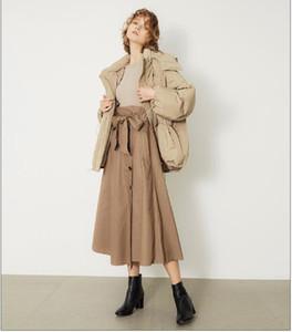 Frauen Winterjacke Damen wirklicher Waschbär-Pelz-Kragen-Ente unten Innen warmer Mantel Femme mit dem ganzen Tag Hoher Qualität Fünf Farben mit Kapuze Mantel