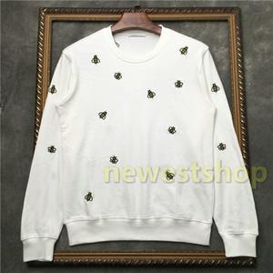 2020 nouveaux automne mens vêtements tag mode hoodies d'impression abeille brodé Sweat-shirt Designer Casual womens Pulls Sweats