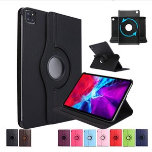 360 Rotating Flip PU Leather Stand Case For iPad Pro 11 12.9 Inch 2020 Samsung Galaxy Tab S6 Lite P610 A 8.4 T307 Huawei Mate 10.4
