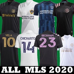 2019 2020 LAFC Carlos Vela Futbol Formalar 2021 Los Angeles FC Inter Miami Beckham Siyah LA Galaxy Chicharito Atlanta United Futbol Gömlek