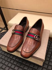Top lujoso 2019 zapatos de vestir para hombre hechos a mano estilo Brogue Paty zapatos de boda de cuero Hombres Pisos Oxfords de cuero zapatos formales