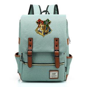 Saco de escola retro Harry Potter Cosplay Props Escola de Magia lona de alta qualidade Mochila Boy Girl Student Mochila Escolar