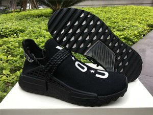 HOT Sale Human Race Pharrell Williams NERD Black Running Shoes Man Women Running Shoes Sneakers sports Sneakers