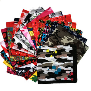 hip hop national flag square scarf outdor headdress riding square scaw multi-functional street dance Euro scaf Bandanas convices C065-5