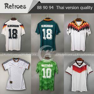 1988 1990 Allemagne Retro Football Maillots 1994 Futbol Camisa Deutschland maison KLINSMANN Matthias 88 90 94 1996 2014 suite classique Football Shir