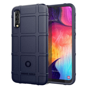 Cobertura Total Shockproof Soft Silicone Case Armor Matte Cover Anti Knock Shell for Samsung A50 A30 Heavy Duty Army Style